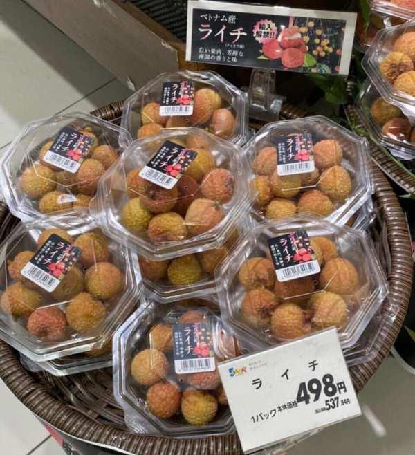 Vải thiều Việt Nam đã có mặt tại siêu thị Nhật Bản, giá bán từ 180-270 nghìn đồng/kg