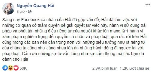 Quang Hải và người trong cuộc nói gì sau khi lộ tin nhắn cá nhân