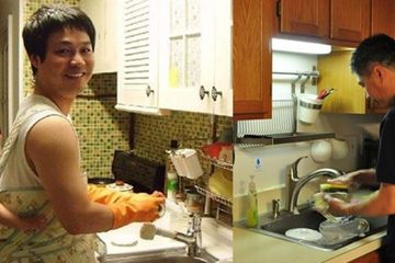 'Triết lý chiều vợ' của người chồng chăm rửa bát, quét nhà