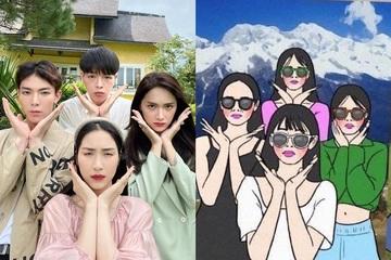 """Hòa Minzy và gia đình Hoa Dâm bụt """"lầy lội"""" gây bão với chùm ảnh theo style ảnh hội nhóm"""