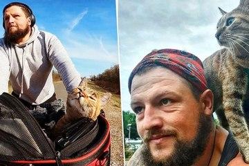 Thú vị câu chuyện chú mèo cùng anh thợ hàn đạp xe vòng quanh thế giới