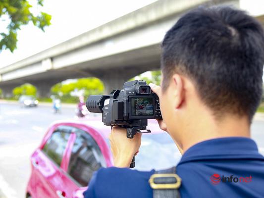 CSGT hóa trang bắt quả tang loạt xe khách 'rùa bò' quanh bến xe Hà Nội