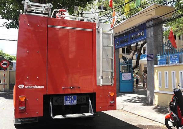 Đà Nẵng: Cháy phòng học nhạc của trường THCS giữa trưa nắng gắt