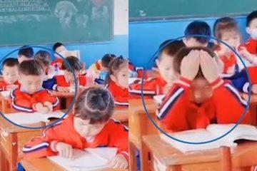 Phì cười trước chiêu 'đổ' kiến thức vào đầu của cậu học trò nhỏ