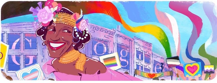 Marsha P. Johnson và 6 sắc cầu vồng LGBT+ được Google vinh danh