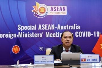 Bộ trưởng các nước ASEAN và Úc họp phiên trực tuyến đặc biệt về COVID-19