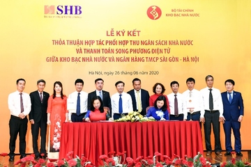 Kho bạc Nhà nước và ngân hàng SHB phối hợp thu ngân sách và thanh toán song phương điện tử