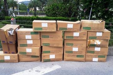 Truy tìm người vứt bỏ gần 20 thùng thuốc tây y ở đại lộ Thăng Long