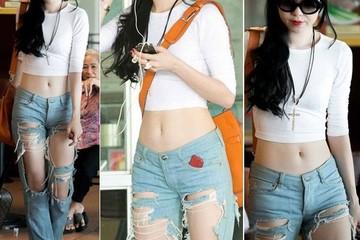 Thời trang quần jean rách tả tơi của sao Việt
