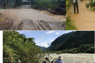 Mưa lớn ở Bắc Bộ: Lào Cai sạt lở đường, Lai Châu 1 người bị lũ cuốn trôi