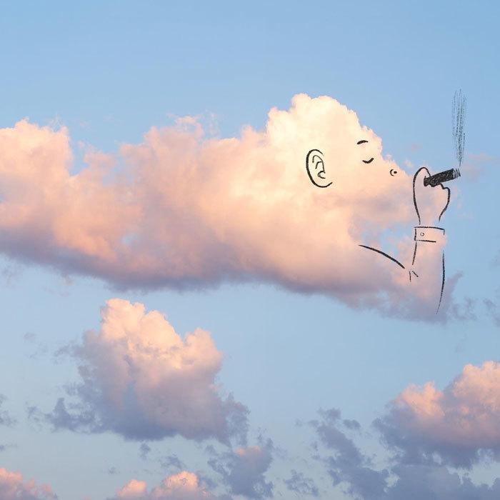 Nét vẽ nguệch ngoạc thổi hồn vào mây trời truyền cảm hứng đi khắp thế giới