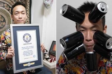 Người đàn ông hút mọi vật bằng da lập kỷ lục Guiness thế giới