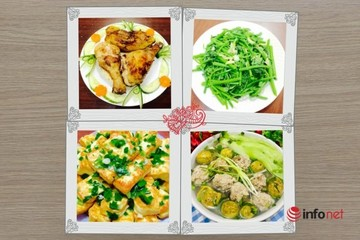 4 món ngon dễ làm cho bữa cơm gia đình hôm nay