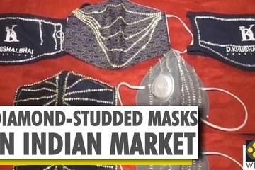 Khẩu trang đính kim cương thể hiện đẳng cấp giới nhà giàu Ấn Độ
