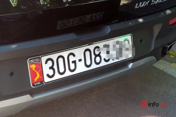 CSGT rà soát xe dán bản đồ Việt Nam, xử phạt chủ xe dán hình sai