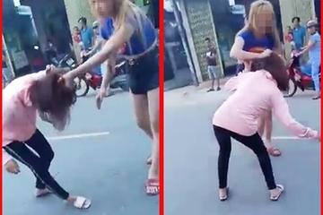 Quảng Nam: Xôn xao clip cô gái trẻ bị một đôi nam nữ đánh tới tấp giữa đường