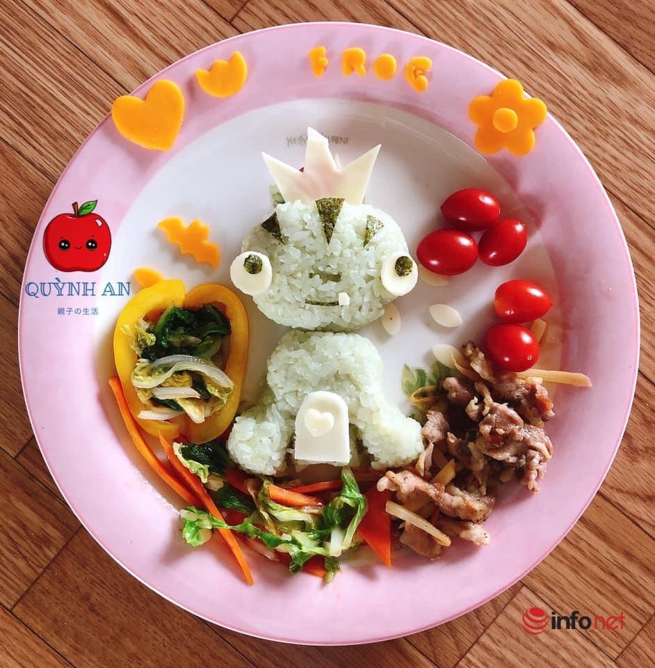 Mẹ Việt khéo léo tạo cho con bữa ăn màu sắc 'khu vườn cổ tích'