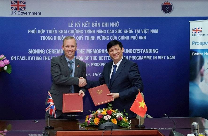 Anh và Việt Nam ký biên bản ghi nhớ hợp tác về nâng cao sức khỏe