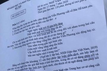 Đề thi, gợi ý đáp án môn Ngữ văn vào lớp 10 tại Hà Nội năm 2020