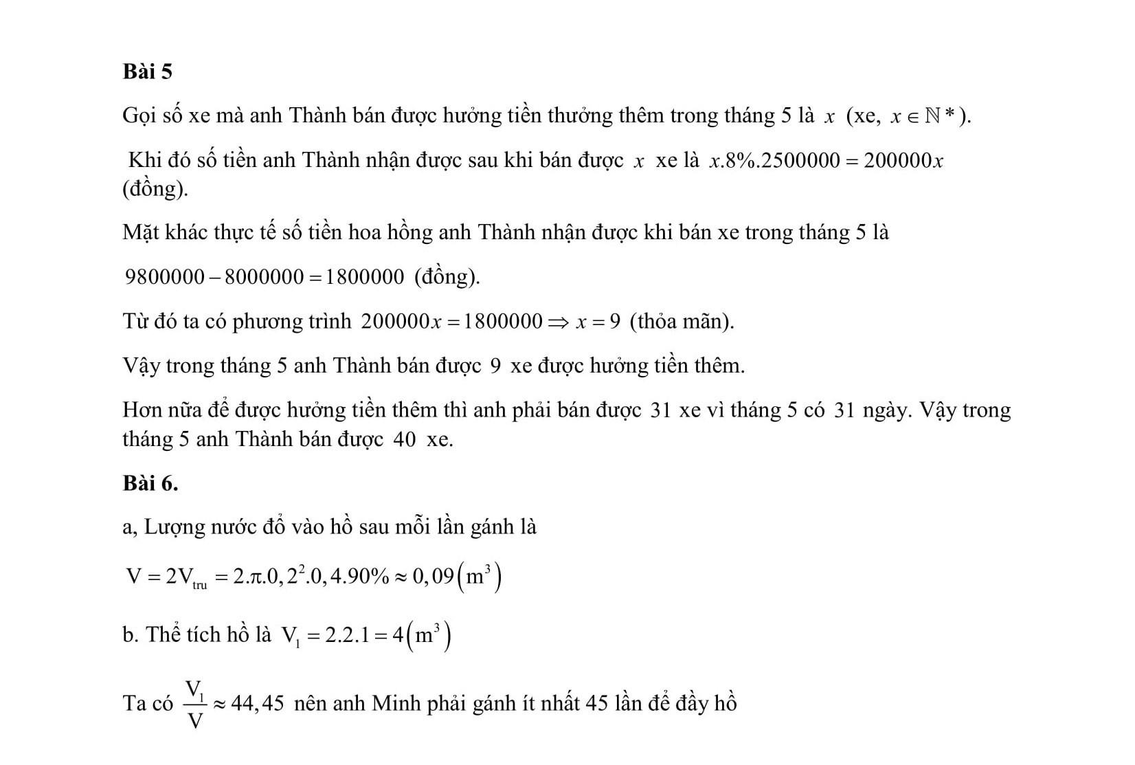đáp án đề thi tuyển sinh lớp 10 môn Toán TPHCM b34