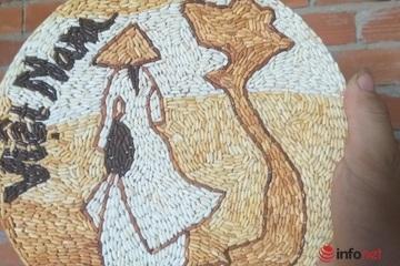Cô gái say mê 'thổi hồn' vào những bức tranh gạo