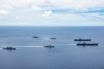 Bộ đôi tàu sân bay Mỹ tập trận lần thứ hai trên Biển Đông