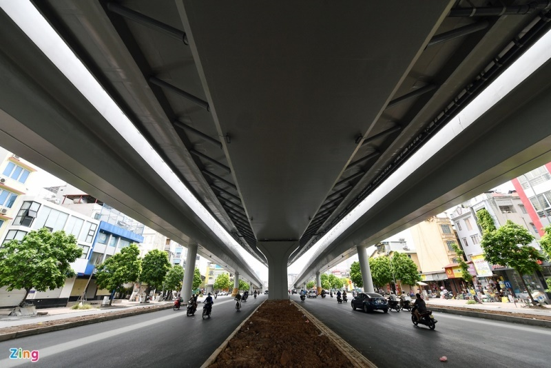 Đường vành đai 2 trên cao nghìn tỷ ở Hà Nội trước ngày thông xe