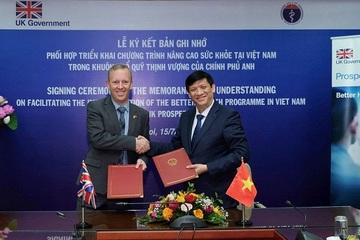 Anh và Việt Nam ký biên bản ghi nhớ hợp tác trong Chương trình Nâng cao Sức khỏe