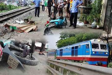 Va chạm với tàu hỏa, lái xe GrabBike văng xa 20m tử vong