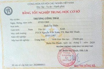 Thực hư thông tin 'Chủ tịch TP Buôn Ma Thuột rớt tốt nghiệp PTCS'