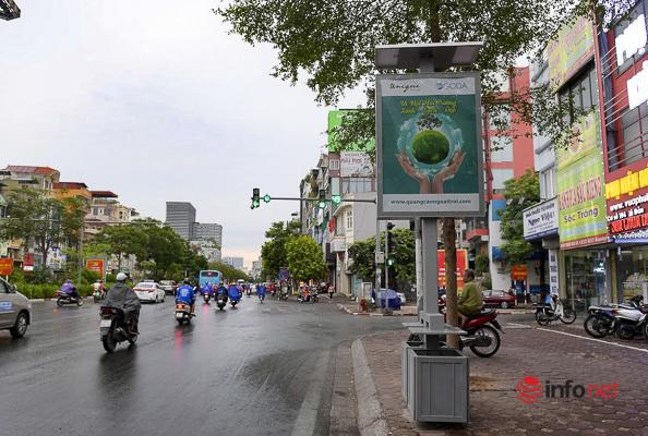 Những thùng rác công nghệ phát sáng về đêm ở Hà Nội