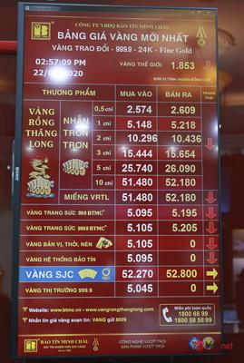 """Giá vàng liên tục """"nhảy nhót"""", phố vàng Hà Nội tấp nập mua bán"""