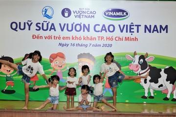 Trẻ em TP.HCM được chăm sóc dinh dưỡng từ Vinamilk và Quỹ sữa Vươn cao Việt Nam