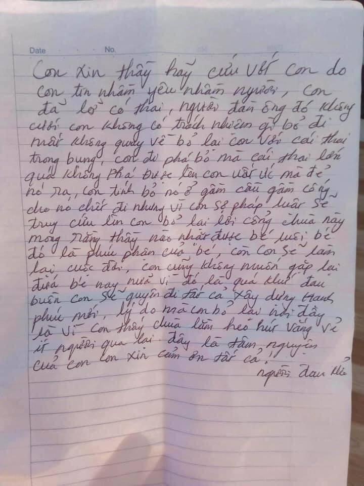 Mẹ bỏ rơi con ở cổng chùa kèm lá thư: Con tin yêu nhầm người