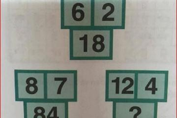 Bài toán điền số của học sinh tiểu học khiến người lớn phải 'vò đầu bứt tai'