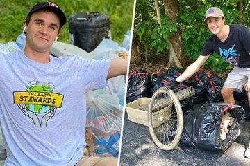 Thu thập 7.000 túi rác trong 10 năm để bảo vệ môi trường