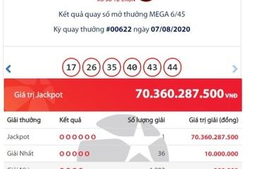 Trúng Jackpot hơn 70 tỷ, tỷ phú Vietlott đầu tiên của tháng 8 đã xuất hiện