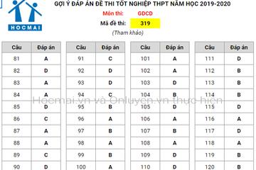 Đề thi, gợi ý đáp án môn Giáo dục Công dân kỳ thi tốt nghiệp THPT 2020