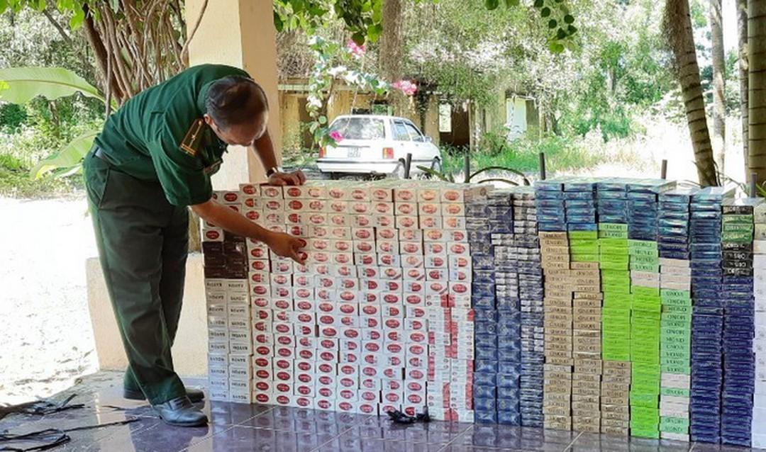 Tây Ninh bắt giữ 6.140 gói thuốc lá nhập lậu