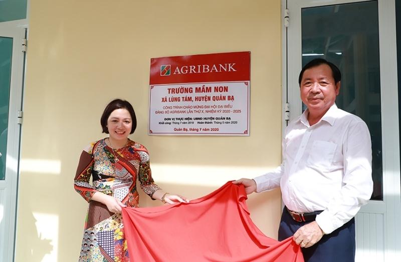 Khánh thành các công trình chào mừng Đại hội Đảng bộ Agribank lần thứ X