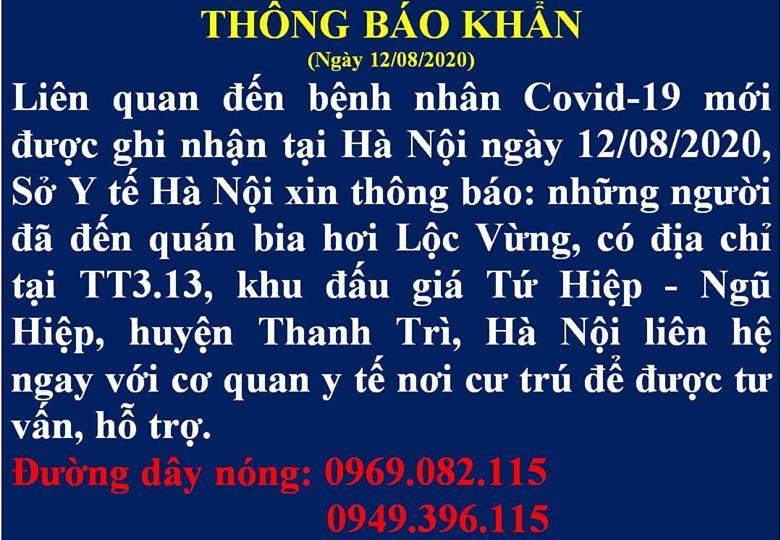 Hà Nội tìm người liên quan đến quán bia hơi Lộc Vừng, Thanh Trì