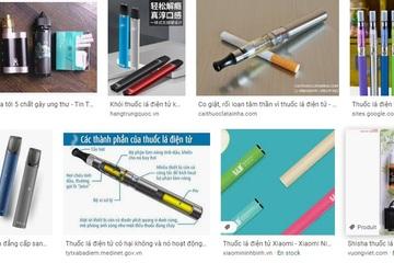 Ngập tràn quảng cáo thuốc lá trên mạng xã hội
