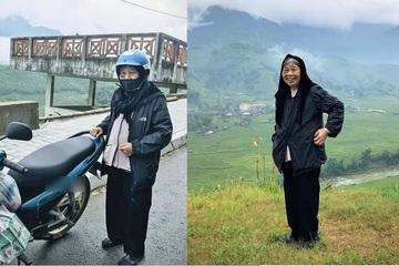 Cụ bà 90 tuổi quyết tâm phượt bằng xe máy khiến dân tình xuýt xoa