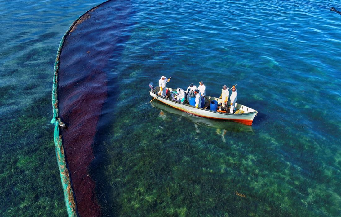 Cận cảnh thảm họa môi trường ngoài khơi quốc đảo Mauritius