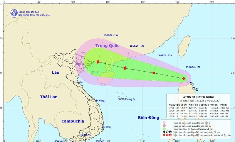 Dự báo thời tiết ngày 18/8: Áp thấp nhiệt đới gió giật cấp 9, miền Bắc mưa to diện rộng