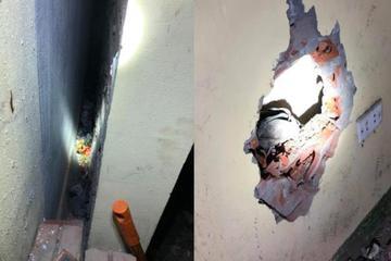 Giải cứu bé trai vẫn còn dây rốn bị mẹ bỏ vào khe tường