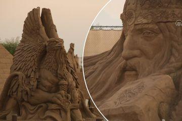 'Choáng' với hàng trăm tác phẩm điêu khắc khổng lồ từ 10.000 tấn cát