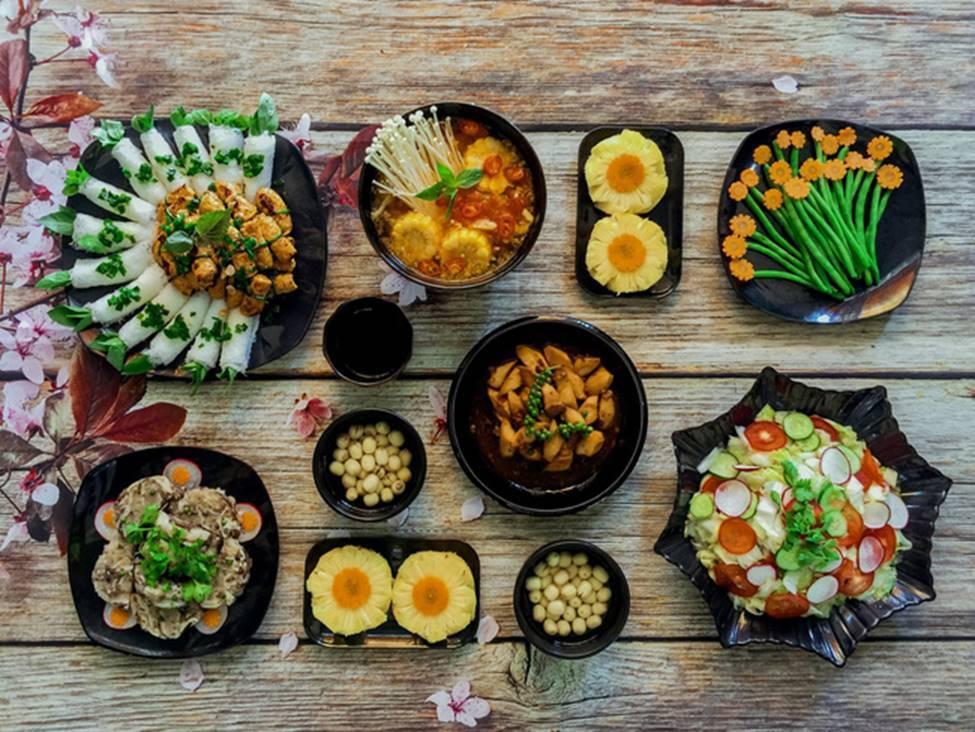 5 mâm cơm chay cúng lễ ngon đẹp xuất sắc