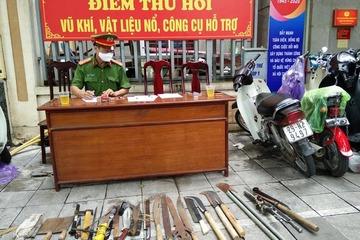 Quận Hoàn Kiếm thu hồi nhiều vũ khí nóng, súng đạn tự chế