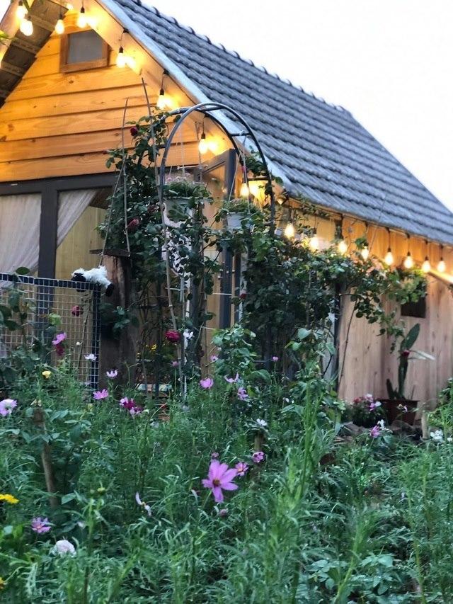 thiết kế nhà vườn gỗ